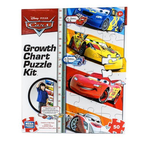 Disney 50 Piece Cars Growth Chart Puzzle (Growth Chart Cars compare prices)