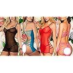 Flydo-Donna-Pizzo-Sexy-Lingerie-Erotico-Tuta-Babydoll-Trasparente-Prospettiva-Pigiama-Intero-Sexy-Vestito-Lace-Mini-Abito-Tentazione-Nightclub-Backless-Clubwear