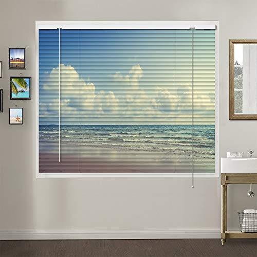 Patterned Aluminium Mini Window Blinds, Premium 1-inch Light Filtering Horizontal Custom Blinds, Pattern 15
