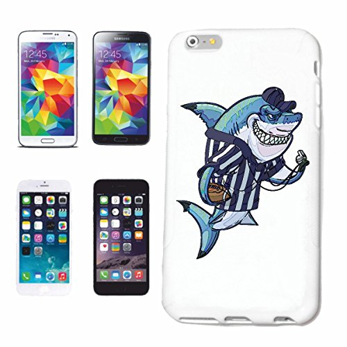 "cas de téléphone iPhone 6+ Plus ""SHARK IN RUGBY PLAYING WHITE HAI MEGALODON BLEU SHARK Hammerhai récif blacktip whalesharks requin mako"" Hard Case Cover Téléphone Covers Smart Cover pour Apple iPhone"