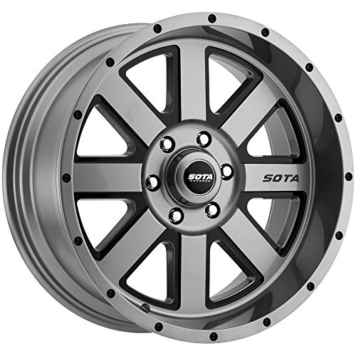 SOTA Offroad 569AB A.W.O.L. Anthra-Kote w Window/Blk Rivet Wheel with Painted Finish (20 x 9. inches /6 x 5 inches, 0 mm - Anthracite Wheels Painted