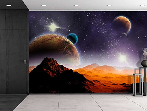 wall26 - Peering into a Vibrantly Colored Space - Wall Mural, Removable Sticker, Home Decor - 100x144 inches by wall26 (Image #2)