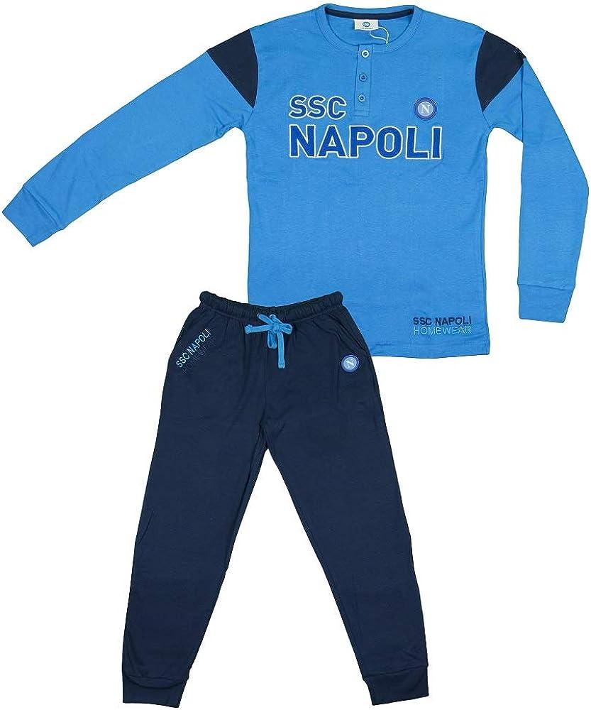 SSC Napoli Pigiama Interlock Serafino da Uomo N90686