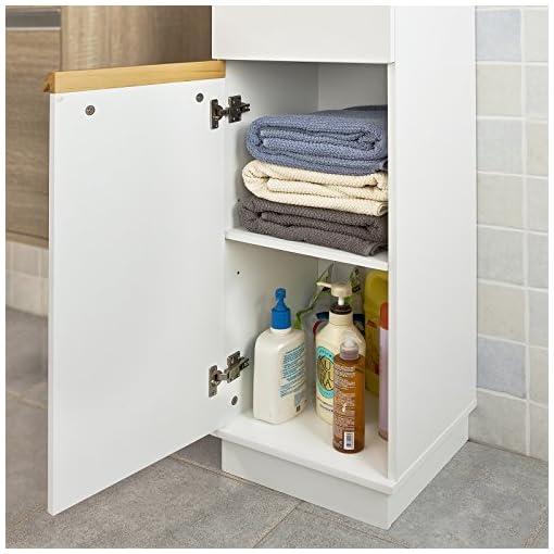 SoBuy® Mobiletto da bagno di alta, Mobile a colonna da bagno ...