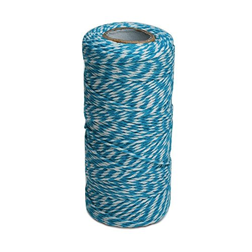 100 M/328 Feet Durable Cotton Baker's Twine String, Heavy Duty Packing Bakers Twine for Gardening Applications (Blue and -