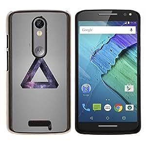 EJOOY---Cubierta de la caja de protección para la piel dura ** Motorola Moto X3 3rd Generation ** --Galaxia Triángulo