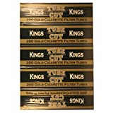Gambler Gold King Tube Cut Cigarette Tubes 200ct Carton 5 Pack