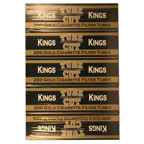 Gambler Gold King Tube Cut Cigarette Tubes 200ct Carton 5 (Gambler Cigarette)