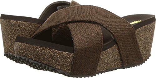 Brown Sandals Volatile (Volatile Women's Glistening Brown 8 M US)