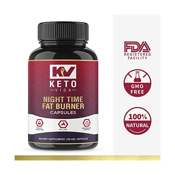 Health Shopping Keto Vida Weight Loss Fat Burner for Night Time to Suppress Appetite