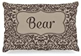 "Kess InHouse KESS Original ""Bear"" Damask Name Fleece Dog Bed, 30 by 40-Inch, Brown/Tan"