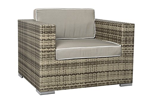 Rattan Loungeelement Espace Exclusive Sessel inkl. Polster - Farbe: braun meliert