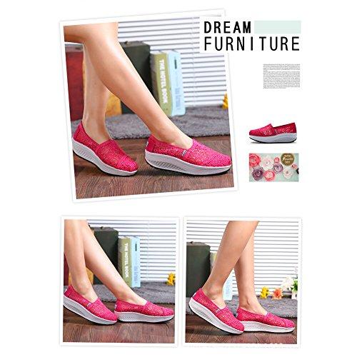 Malla Zapatos Plataforma Zapatillas Sacudir Rose Zapatos Andar de Running Mujer de Deporte A increasing Height Casual Sneaker Zapatilla Deporte qEUEtOnvP