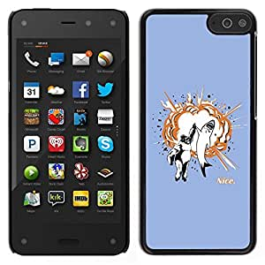 // PHONE CASE GIFT // Duro Estuche protector PC Cáscara Plástico Carcasa Funda Hard Protective Case for Amazon Fire Phone / Gorila & Shark Explosión /
