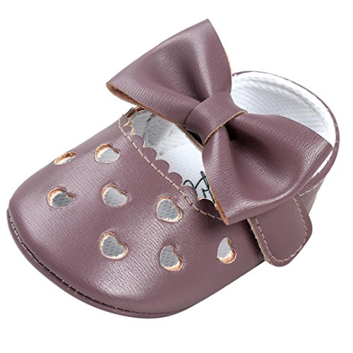 Ouneed® Krabbel schuhe , Baby Girl Hollow Out Bowknot Shoe Casual Shoes Sneaker Anti-slip Soft Shoes Lila