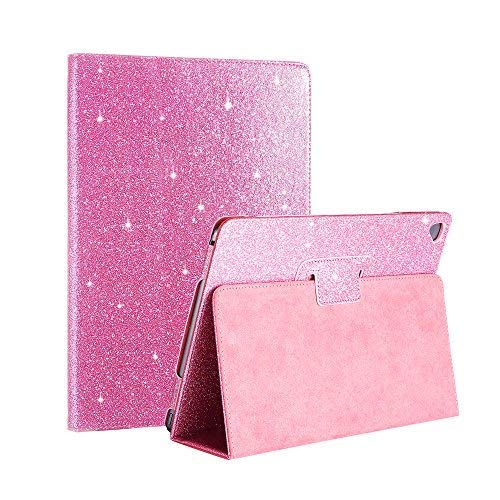 2018 New iPad/iPad Air/Air2/Pro 9.7 Glitter Case,FANSONG Bling Sparkle PU Leather Smart Cover [Flip Stand Function] [Auto Sleep/Wake] Universal Case for Apple iPad Air/Air2/Pro 9.7 (Bling Pink)