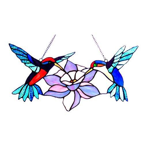 - Chloe Lighting Nectar Hummingbirds Window Panel