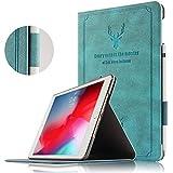 iPad mini5ケース カバー 超薄型 軽量 iPad mini5タブレット高級PUレザーケース カバー 手帳型 iPad Mini 5 2019専用保護ケース スタンド機能付き iPad Mini 5 2019タブレット用ケース 両用タッチペン付き (iPad mini5, ブルー)