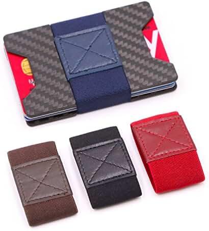 kinzd Slim Wallets for Men Carbon Fiber Wallet Credit Card Holder