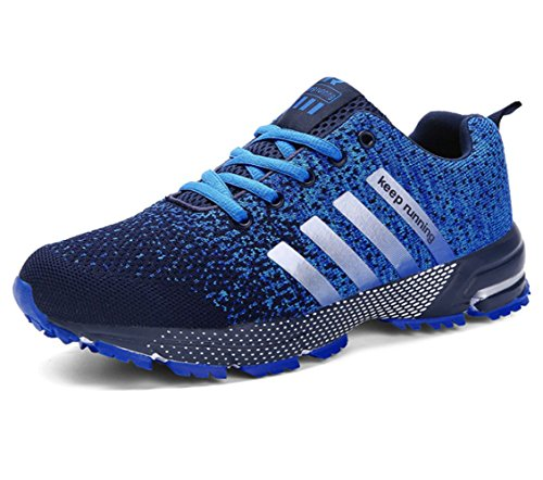 Fitness De Mode Gym Chaussures Course Sports Mixte Homme Sneaker Bleu Adulte Baskets Femme Running zHIRR