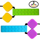 Chew Necklace - Sensory Brick - Chewable Oral Stimulation - Supports Children with Special Needs, ADHD, Autism, Emotional Distress - Promotes Calming Focus