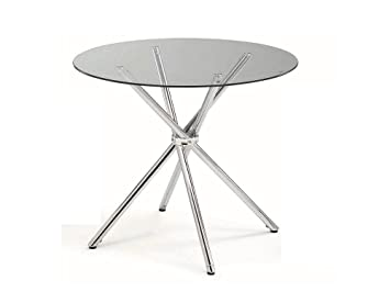 Amazoncom Round Dining Table Metal Glass Tables