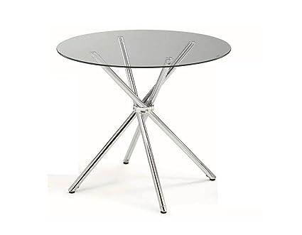 Merveilleux New Spec Inc Round Dining Table, Metal U0026 Glass