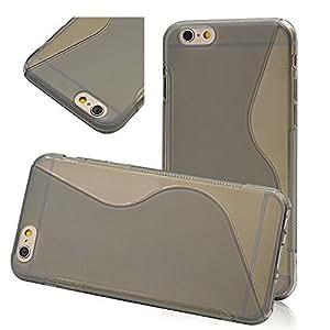 Seedan Translucent Flexible Back Case for iPhone 6 (4.7 inch) TPU Soft Gel Cover Skin Slim S Line Design - Grey
