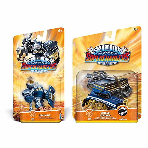 Skylanders Superchargers Character & Vehicle Bundle - High Volt & Shield Striker