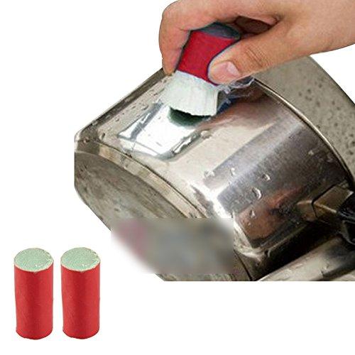Amazing 2pcs Magic Stain less steel cleaner pot rust brusher Metal cleaning magic wands Soften glass fiber ()