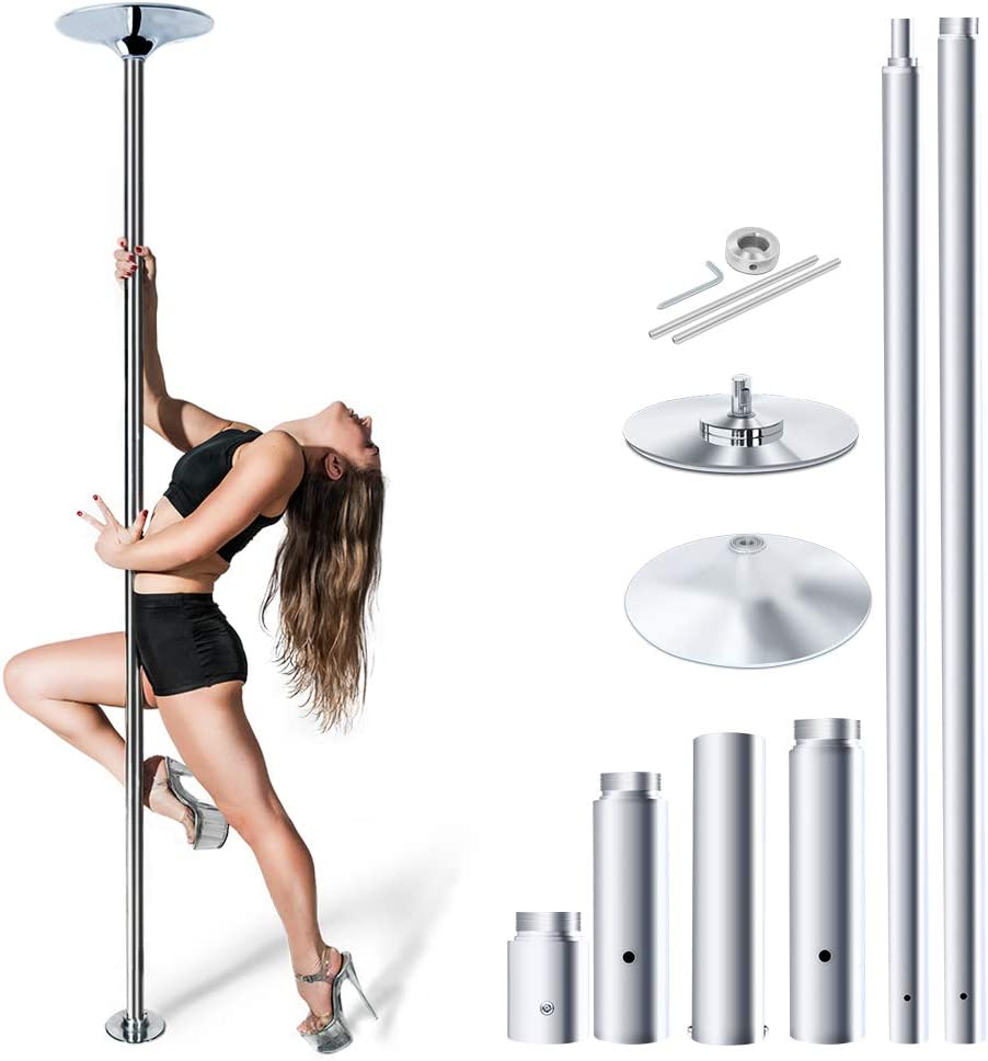 Voilamart Stripper Dancing Pole for Home Spinning Static Dance Pole, Beginner and Professional Tripper, Removable for Fitness Apartment Club Party Pub Portable Pole Dance