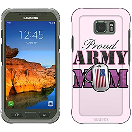Samsung Galaxy S7 Active Case, Snap On Cover by Trek Proud Army Mom Slim Case Sales