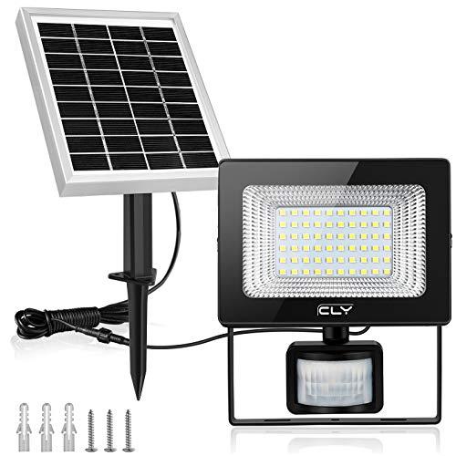 CLY Solarlamp voor buiten, solarlamp, 60 leds, zonnelamp met bewegingsmelder, led, zonnelamp, IP66 waterdicht, super…
