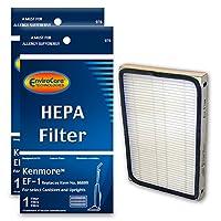 Filtros de vacío de reemplazo EnviroCare para aspiradoras Kenmore que utilizan el filtro EF-1. 2 filtros