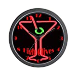 CafePress – High Olives Neon Martini Wall Clock – Unique Decorative 10″ Wall Clock