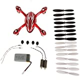 UUMART Hubsan X4 H107C Quadcopter Red/White Crash Pack