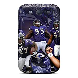 Samsung Galaxy S3 RPI18737XpDI Custom Attractive Baltimore Ravens Pictures Anti-Scratch Hard Phone Covers -Marycase88