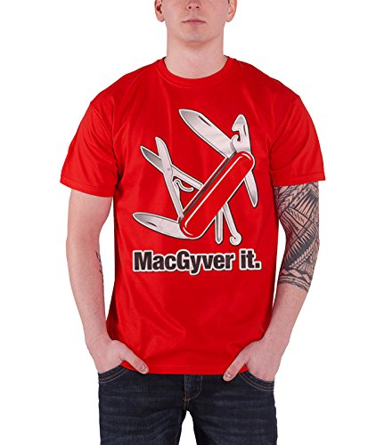 Macgyver T Shirt Macgyver It Official Mens Red
