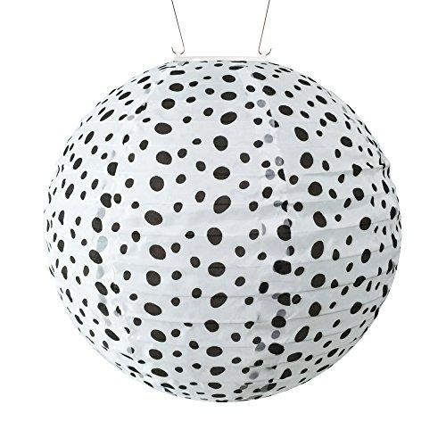 Allsop Home & Garden 31837 Soji Black & White Micro Dot Round Solar Lantern, Micro Dot, Micro Dot