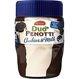 DUO Penotti Chocolate Cream, Cookies & Milk 4 Jars with Each 350 Grams
