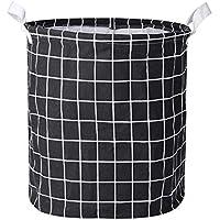 Trenlp Clothes Laundry Cotton Linen Storage Bin Folding Hamper (Various Colors)