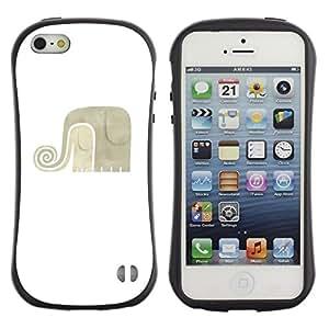 "Pulsar iFace Series Tpu silicona Carcasa Funda Case para Apple iPhone 5 / iPhone 5S , Blanco Gris minimalista Arte"""