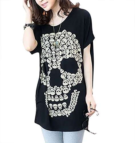 TOKYO-T Skull Tshirts For Women Tee Dress Loose Neck for sale  Delivered anywhere in USA