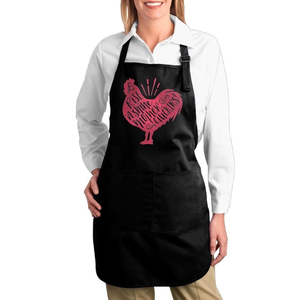 joapron Rise and Shine母Cluckers Fashions Pinafore for Cook家ブラック One Size ブラック One Size ブラック B0776V4RTL