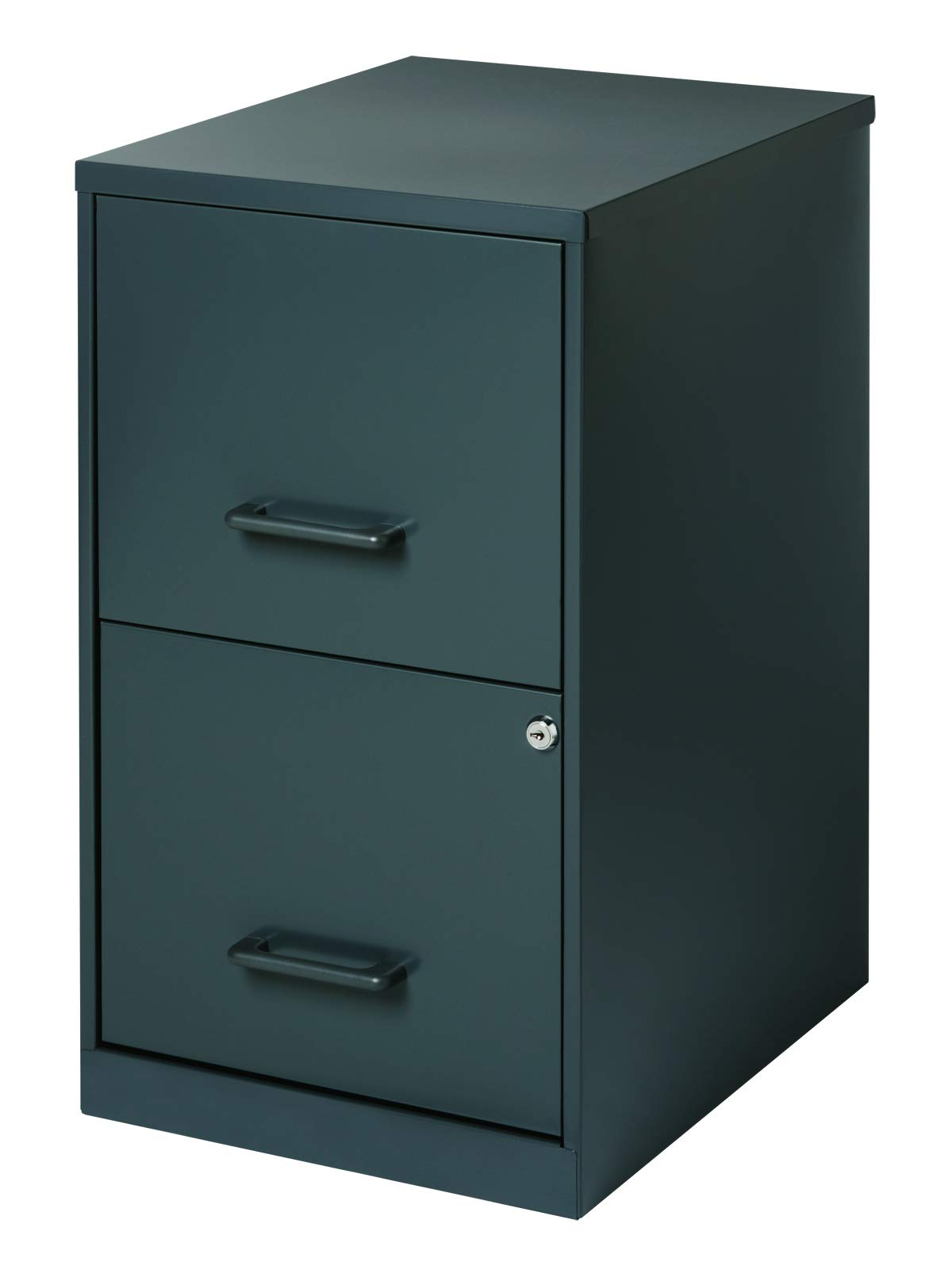 Office Dimensions 18'' Deep 2 Drawer Metal File Cabinet, Graphite