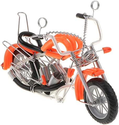 オートバイ バイク模型 金属製 オートバイモデル アートクラフト ギフト 全6色 - オレンジ