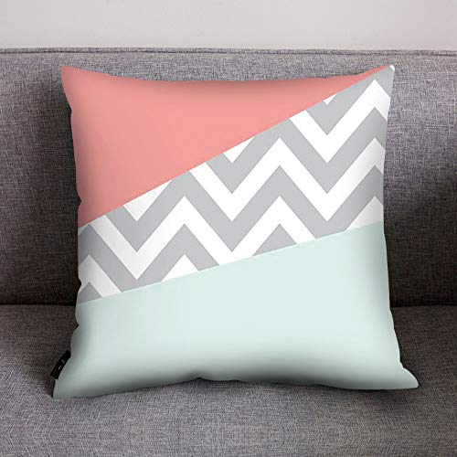 (Fulijie Throw Pillow Cases Bautiful Geometric Patterns Cushion Cover Home Decor for Couch Bed Car 18x18 Inch)