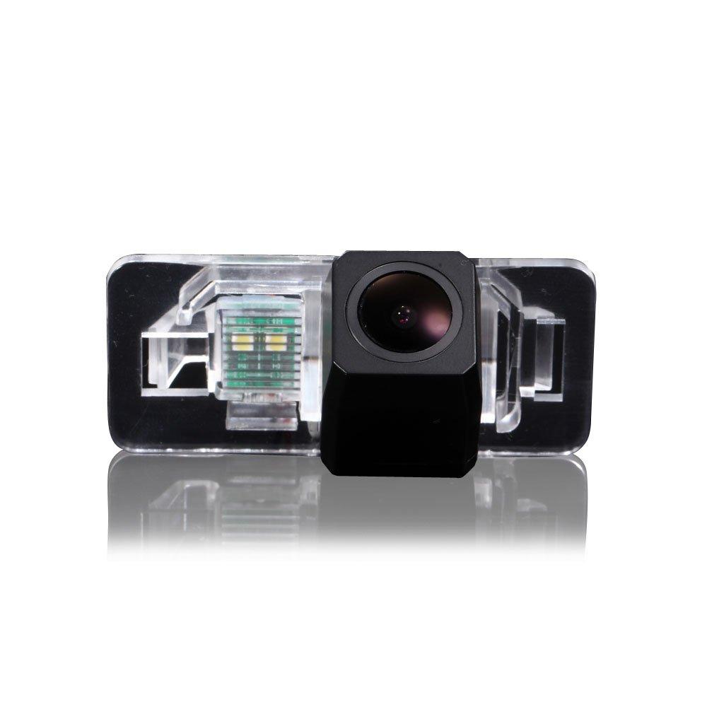 Navinio Waterproof Rear-view License Plate Car Rear View Reverse Parking Camera for BMW E38 E39 E46 E60 E61 E65 E66 E90 E91 E92 735 740 745 750 760 (Starlight Super pro camera)