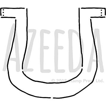 Azeeda A5 Hufeisen Wandschablone Vorlage Ws00027240 Amazon De