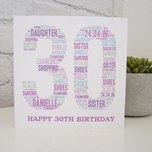 Amazon Personalized Special Age Birthday Card 30th 40th 50th